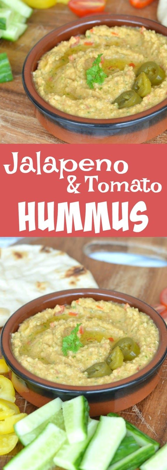 Jalapeno and Tomato Hummus