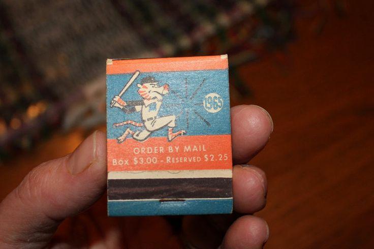 Detroit Tigers Baseball Schedule 1965 Match Book