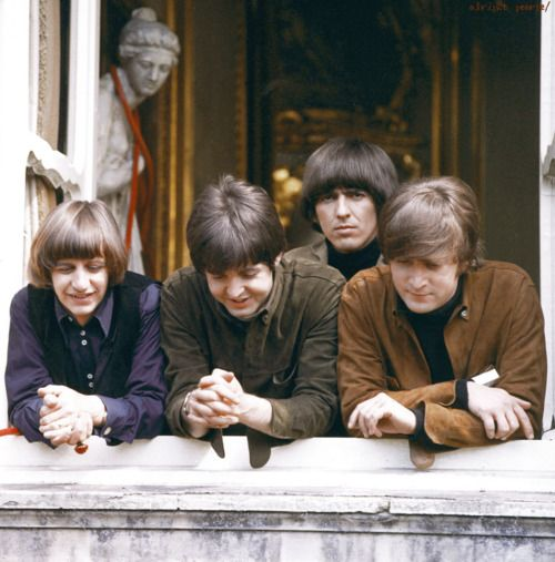 The Beatles were a little too close to death on the set of Help. Weeping angle right behind you!!!!!!
