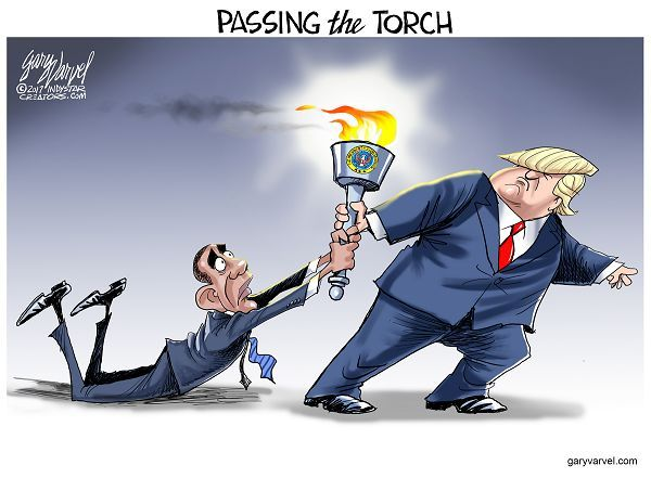 THE RELAY | Jan/09/17 Cartoonist Gary Varvel: Passing the Presidential torch
