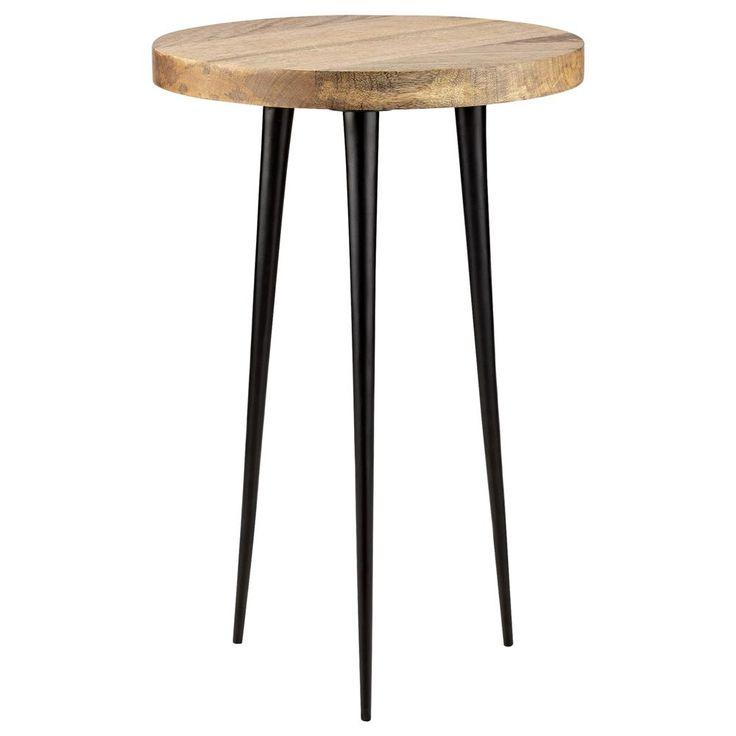 atelier scandinave table d 39 appoint en m tal et en bois. Black Bedroom Furniture Sets. Home Design Ideas