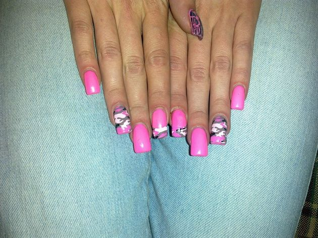 76 best almond nails images on pinterest nail scissors stiletto matte pink camo by meli nail art gallery nailartgalleryilsmag by nails solutioingenieria Images
