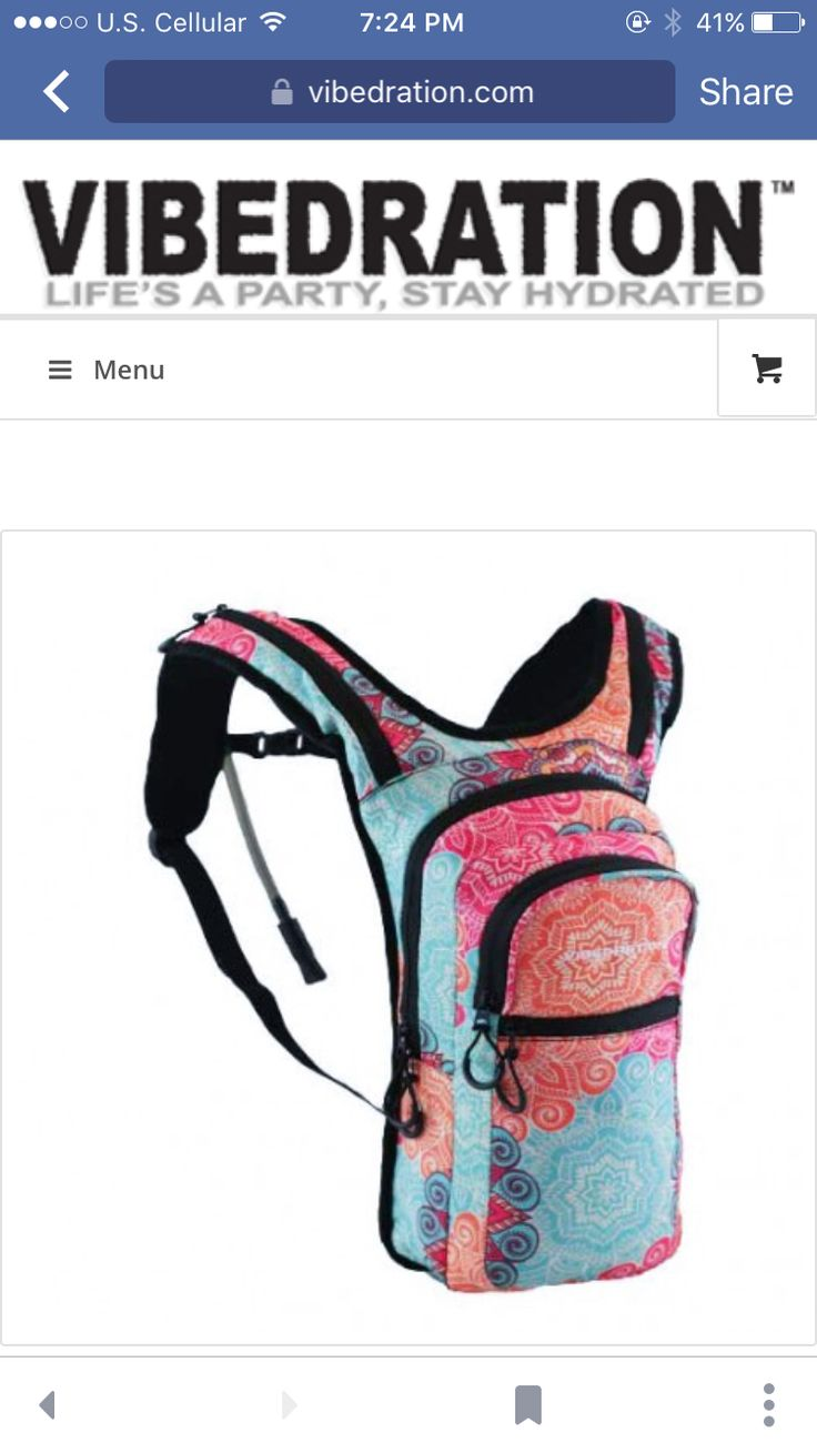 Vibedration hydration pack camelback perfect for a festival :)