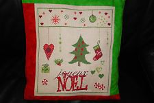 Kissen~JOYEUX NOEL~Madame la Fee~ Fremme ~Leinen ~Advent ~ Weihnachten ~Shabby