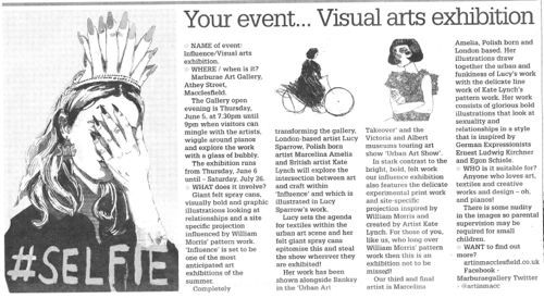 Press for Influence exhibition | Cheshire arts