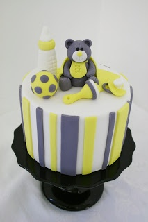 Baby Gender Reveal Cakes.  Add another cute girl animal and title it wiggles or giggles.