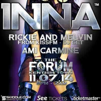 INNA in London + Rickie & Melvin From KISS FM