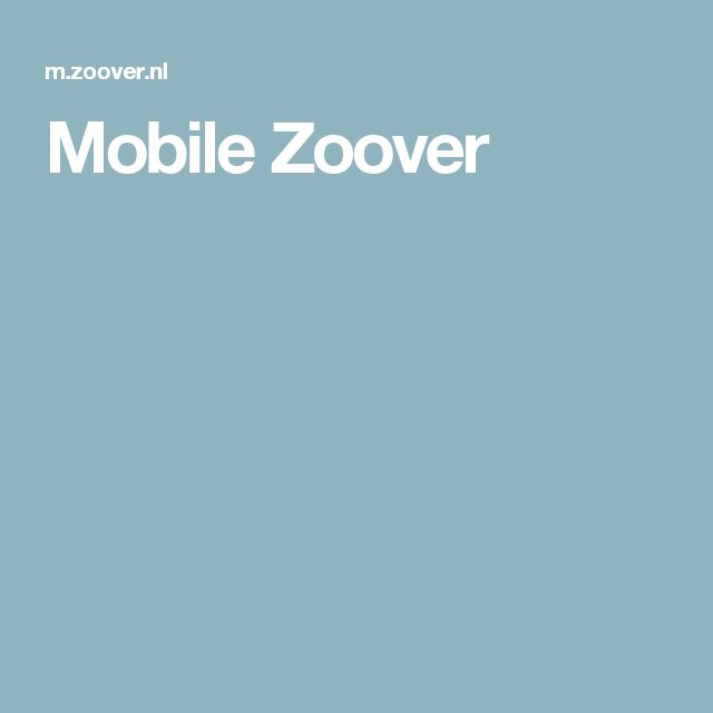 Mobile Zoover
