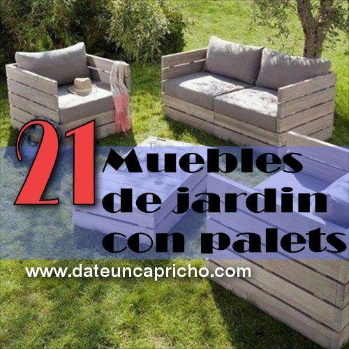 21 muebles de jardin con palets reciclados - Muebles Jardin Palets