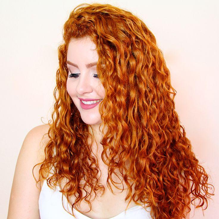 como retocar a raiz do cabelo ruivo e tonalizar o comprimento com tinta e creme cabelo cacheado daianne possoly