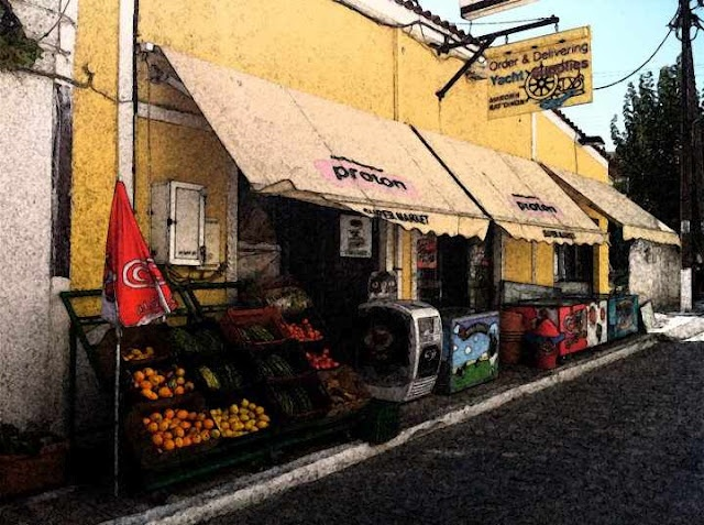 Ira Yacht Food Supplies Supermarket in Pythagorio, Samos