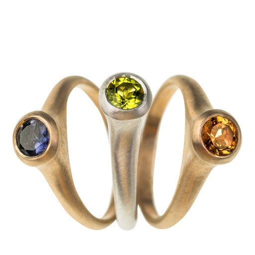 Jazz 2 Silver and Lava Stone Ring - Shop rings from Italy's Best Artisans: fine jewelry handcrafted in Italy - Fine Jewelry from Italy's Best Artisans - Artemest