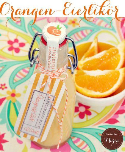 Orange egg likör