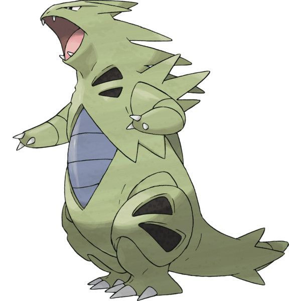 Pokemon ;; 248 Tyranitar ❤ liked on Polyvore featuring pokemon