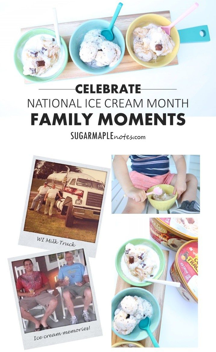 In Honor of National Ice Cream Month and Grandpa Denny - Celebrate Family Moments | #Itsthecows @kempscows | Kemps Ice Cream #ad Sharing a favorite summer treat with family while sharing sweet memories!