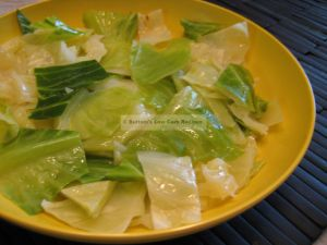 Sweet Steamed Cabbage
