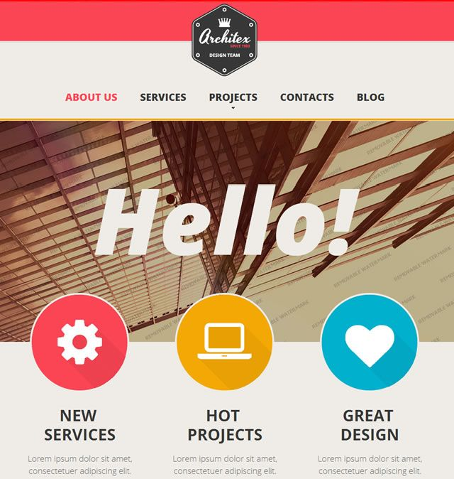 web design ideas using icons - Web Page Design Ideas