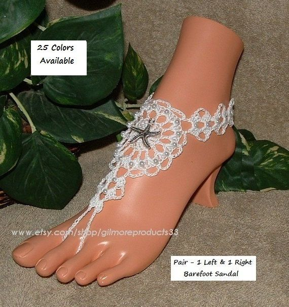 Sea Star Anklet Beach Barefoot Sandals Starfish Shoes Womens