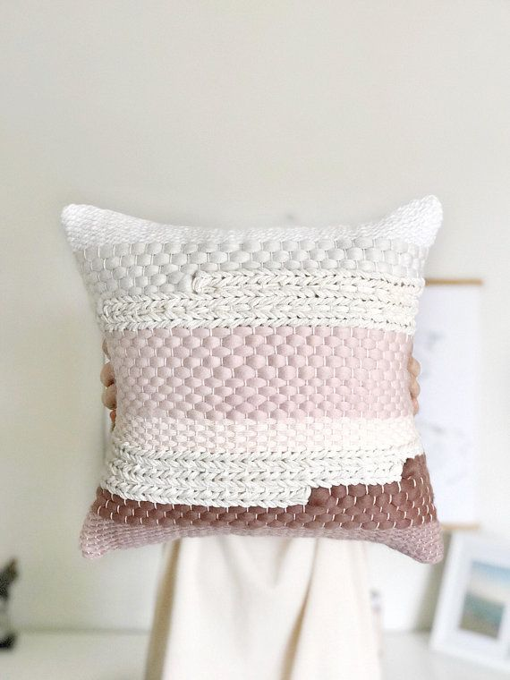 Woven pillow - New Spring collection by Blanc Laine #woven #pillows #nurserydeco...