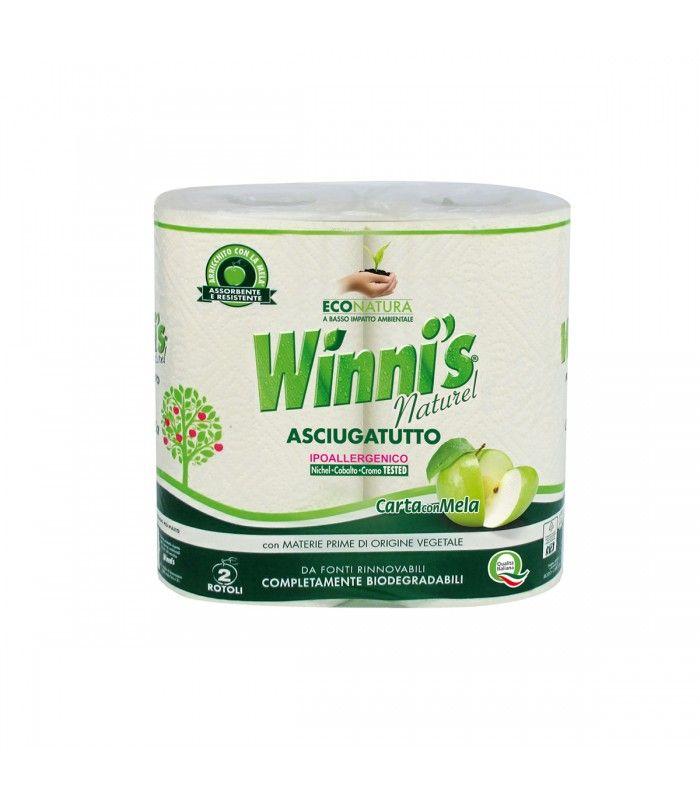 Ręczniki papierowe, wytrzymałe i ekologiczne, wolne od chloru, opakowanie 2 szt., Winnis - Drogeria-Ekologiczna.PL - BetterLand