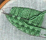 Stitches in Laid Work Plaited Stitch