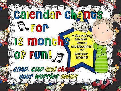 UPDATED Calendar Chants!
