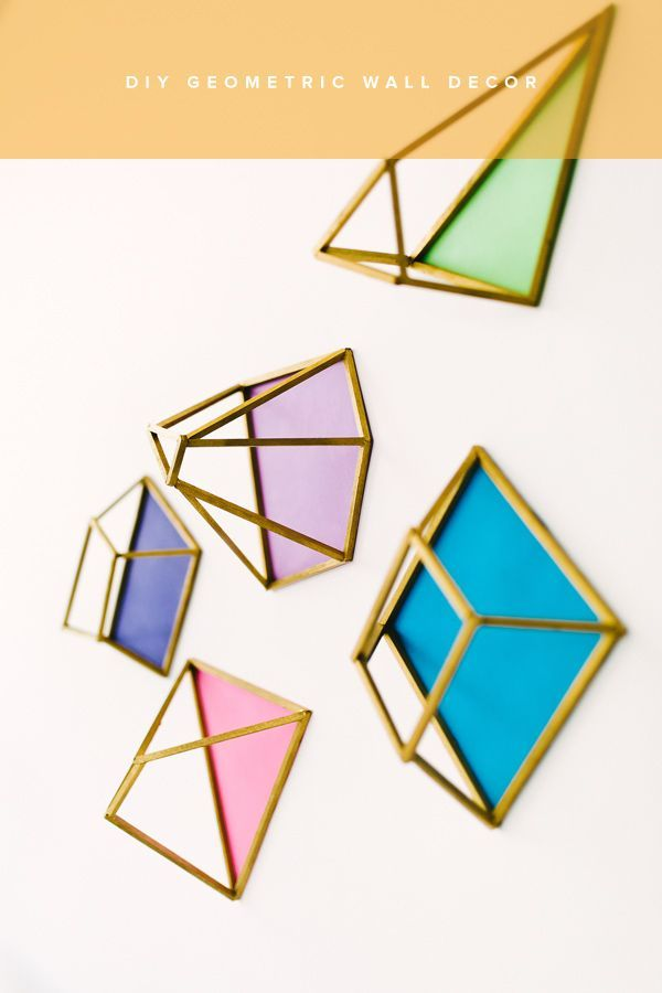 geometric wall decor - photo by Emily Chidester DIY by Studio Cultivate for Ruffled http://ruffledblog.com/diy-geometric-wall-decor