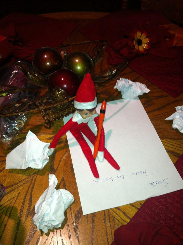 34 best elf on a shelf images on pinterest christmas ideas xmas elf on the shelf writing a letter to santa spiritdancerdesigns Images