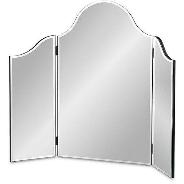 Improvements Frameless TriFold Wall Mirror ($180) ❤ liked on Polyvore featuring home, home decor, mirrors, frameless trifold wall mirror, indoor decor, mirror, wall mirror, frameless mirror, beveled wall mirror and three fold mirror