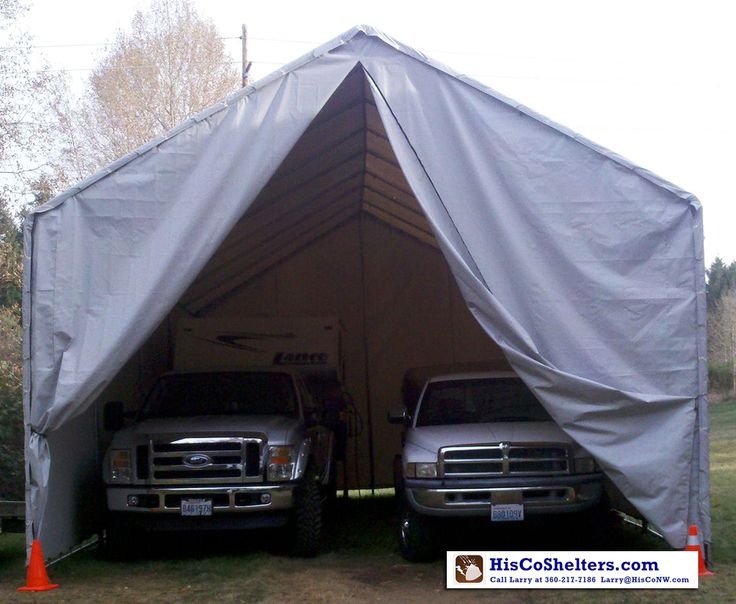 2 Car Garage 18' and 22' wide ShelterLogic Portable Garage fully enclosed RV Boat truck equipment Shelter