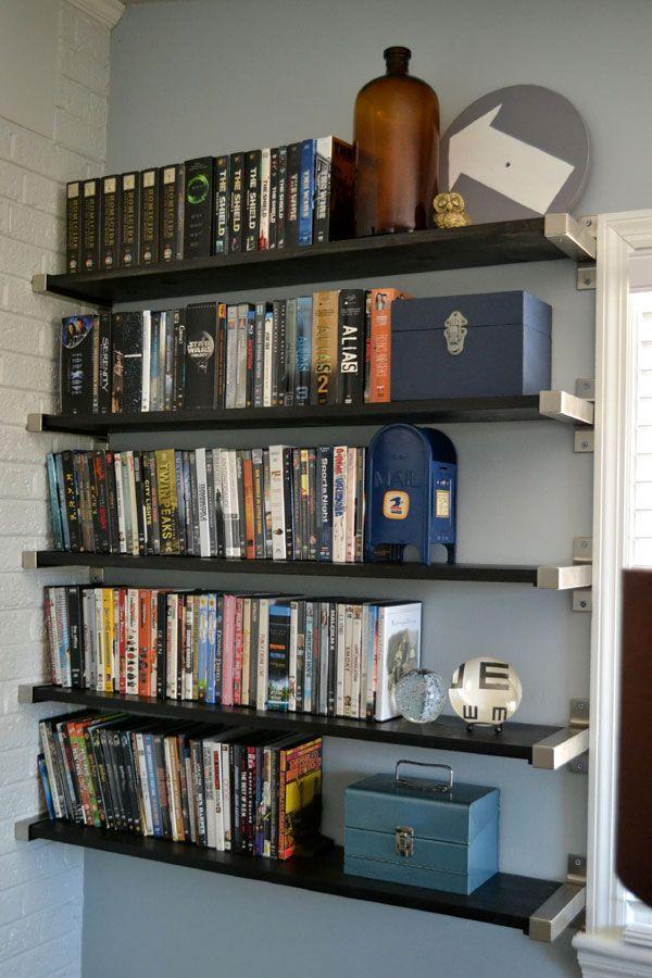 1000 ideas about dvd storage shelves on pinterest dvd storage storage shelves and cd storage. Black Bedroom Furniture Sets. Home Design Ideas