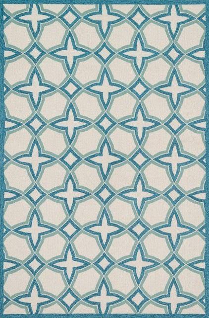 "Loloi Rugs, Francesca, Ivory/Sea, 3'6""x5'6"" mediterranean-area-rugs"