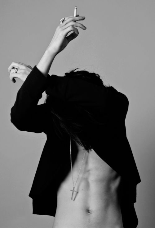 Tomo Kurata / Male Models, Smoking Guy Black & White Photography
