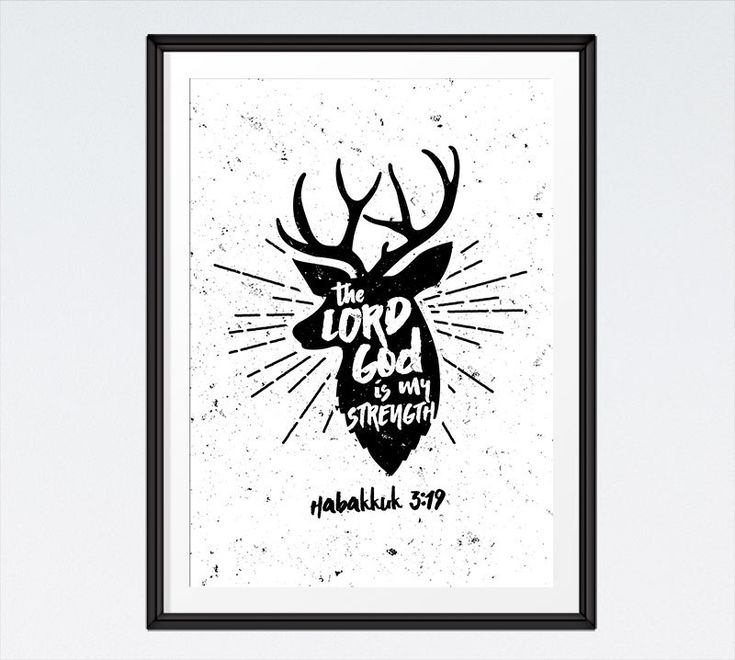♥Seeds of Faith♥  The Lord God is my strength Habakkuk 3:19  BUY 3 Get 1 FREE! Use code: B3G1F  Woodland Nursery Decor, Bible Verse Wall Art, Deer Print, Woodland Print - INSTANT DOWNLOAD by SeedsofFaithDesigns on Etsy