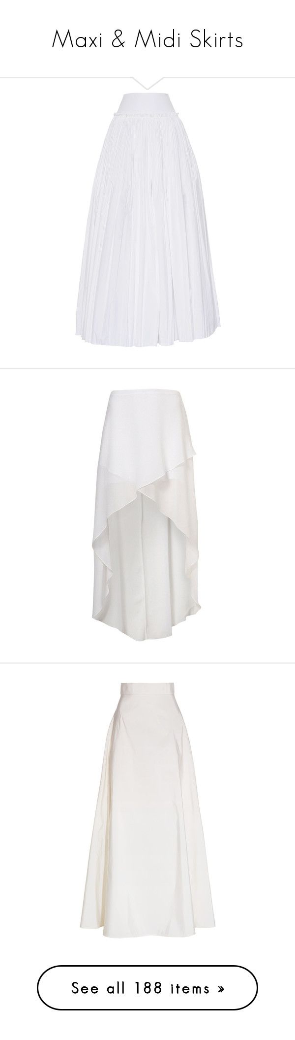 """""""Maxi & Midi Skirts"""" by jewelsinthecrown ❤ liked on Polyvore featuring skirts, maxi skirt, white, white pleated skirt, long pleated skirt, ankle length skirts, flounce skirt, pleated maxi skirt, bottoms and saias"""