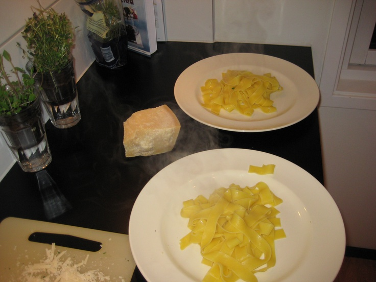Homemade papardelle