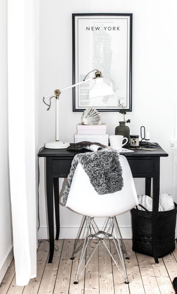 Interior. Study. White. Clean. Minimalistic