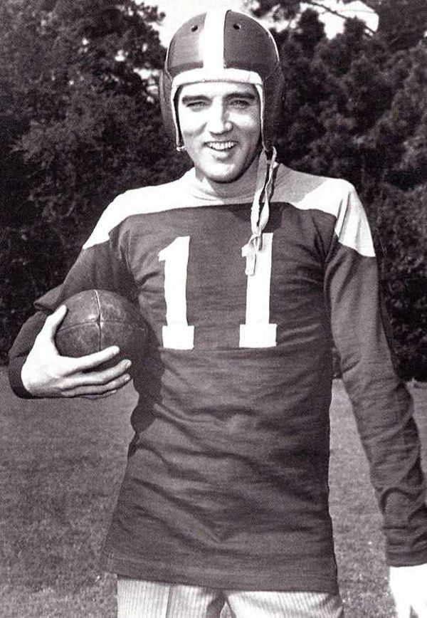 Elvis and Football! Two American Classics!// haan #balloutElvis  handsome self. haha