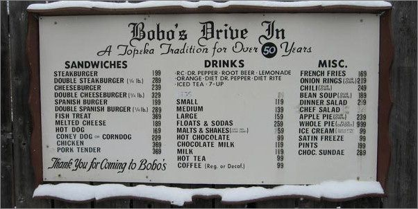 Bobos Menu featured on Diners DriveIn and Dives