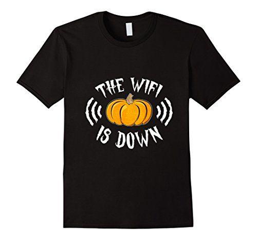 The Wifi Is Down T-shirt Spooky Pumpkin Internet Modem