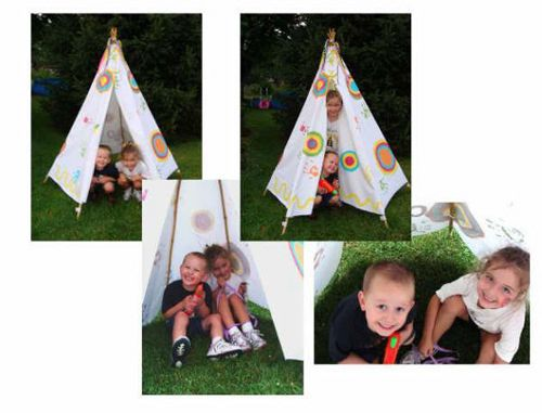 Teepee for Peter Pan Party