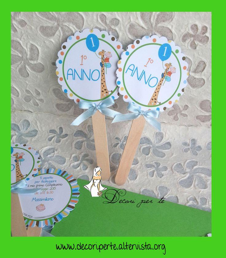 LOLLIPOP INVITI per Bimbo/a LOLLIPOP INVITATION Baby Boy/Girl  Inviti personalizzati nei colori/grafica per compleanni, feste, battesimo ed altri eventi con busta abbinata