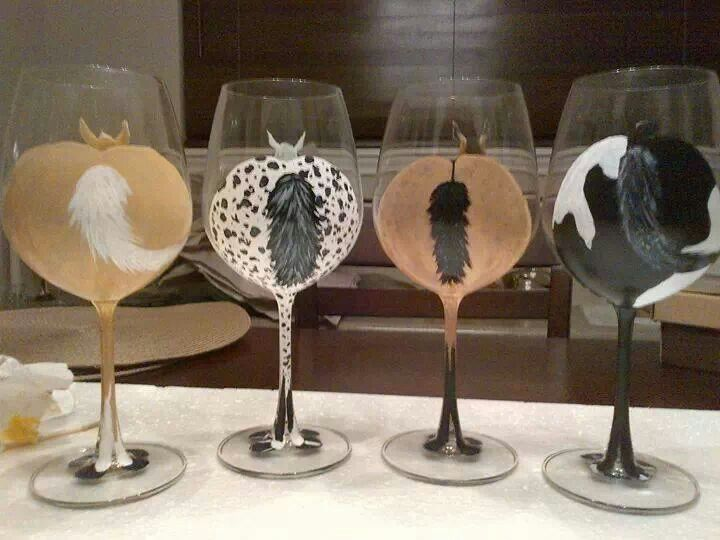 DIY idea  too cute #diyhorse #horsewineglasses #diyprojects