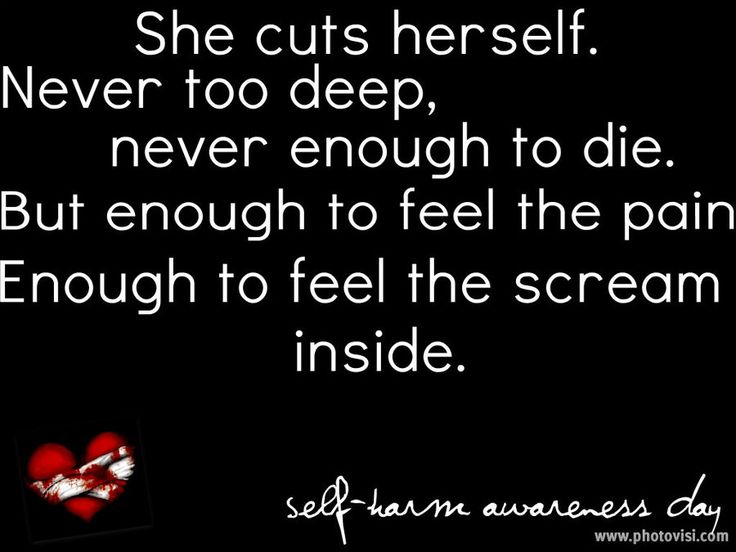 Self Harm Awareness by ~EmotionalDisaster666 on deviantART