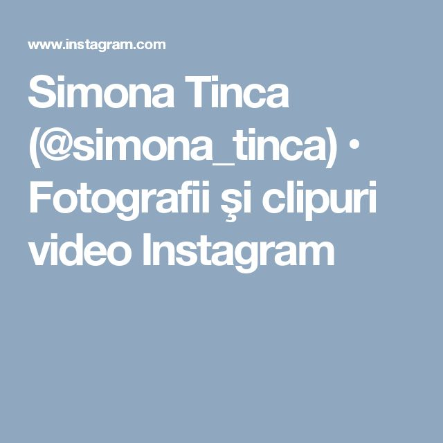 Simona Tinca (@simona_tinca) • Fotografii şi clipuri video Instagram