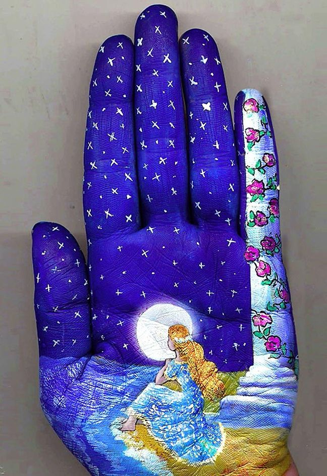 hand art Night scene ... Svetlana uses her own imagination and fairy-tales as inspiration