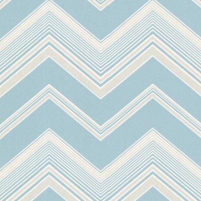 Decorline Bearden Zig Zag Wallpaper Light Blue - 2533-20244