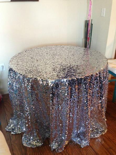 Sequin Tablecloth. $120.95, Via Etsy.