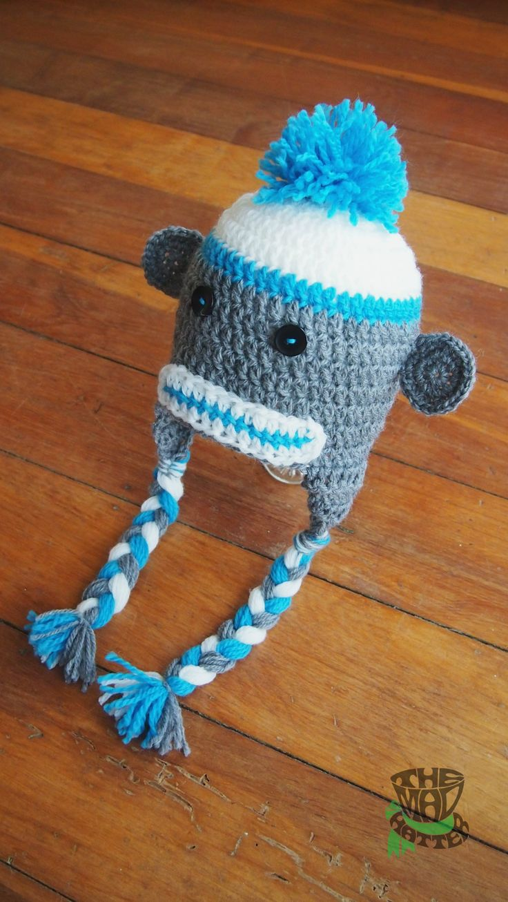 Sock Monkey. Available in any size. Email themadhatternz@gmail.com