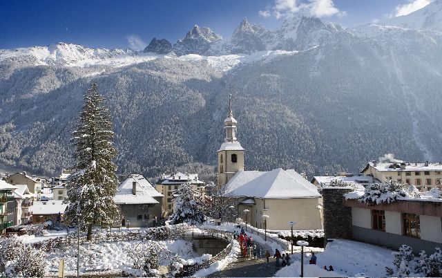 Chamonix, France in winter. Utterly stunning scowscapes, with the best of the French heritage of excellent food, wine, spas, shopping, culture and scenery...